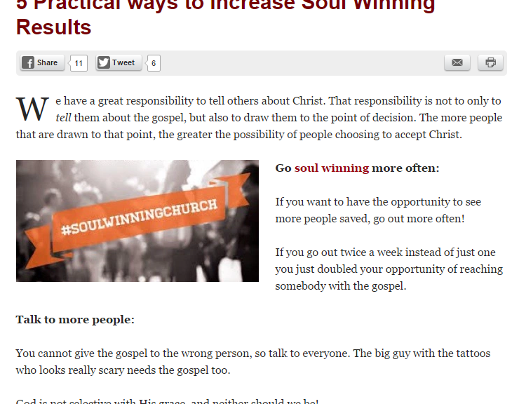 soulwinning